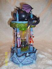 RARE!! Walt Disney World VILLIANS Hourglass Snowglobe w/ lights & music MUST SEE