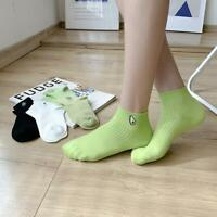Women Embroidery Socks Casual Joker Cotton Short Socks For Ladies College Style