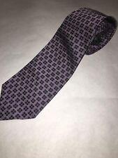 Lauren Ralph Lauren Tie Necktie Purple Black Short Wide 100% Silk Made in USA