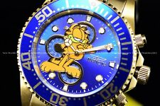 Invicta Men's 44mm Character Lim. Ed. Pro Diver GARFIELD Blue Gold SS Watch