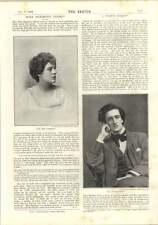 1893 Miss Dora Sigerson Poetess Mr Le Gallienne