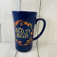 "Disney Beauty and the Beast Mug Ceramic Rose Belle Blue 5.25"" Tall"