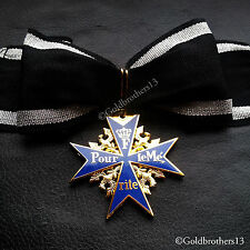 NEW Pour Le Merite 24k Gold Plated Cross Medal Blue Max Highest Honor Award Copy
