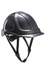 PORTWEST PC55 Endurance grey carbon effect ABS chinstrap hard hat safety helmet