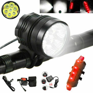 20000Lm 7 LED XML T6 MTB Front Bicycle Bike Light Cycling Headlight Lamp Torch