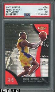 2007-08 Topps Finest Refractor #24 Kobe Bryant Los Angeles Lakers HOF PSA 10