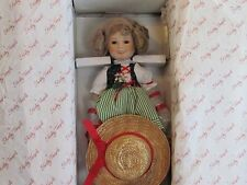 """Shirley Temple Dolls of The Silver Screen Danbury Mint 14"""" Porcelain 1986"""