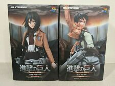 Attack on Titan Eren + Mikasa Real Action Hero Figure Medicom Set of 2