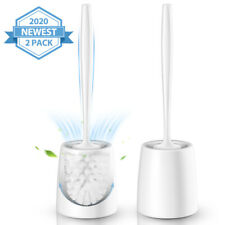 2x Home Bath Bathroom Toilet Brush Discount Standing Cleaning Stand Holder
