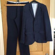 Marks & Spencer Boys Linen / Cotton Suit - Blue / Age 10-11. Worn twice.