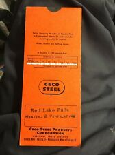 Vintage Slide Rule Calculator Gauge Table Ceco Steel Corrugated Sheets Sq Ft