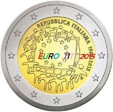 2 €    ITALIE   COMMEMORATIVE   2015    1  X  PIECE       DRAPEAU  /  Disponible