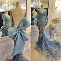 2018 Mermaid Formal Evening Dress Cocktail Celebrity Party Prom Gown custom size