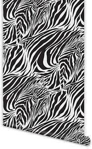 Zebra Print Wallpaper Wall Sticker Self-Adhesive Removable Furniture Sticker