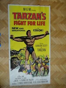 Tarzan's Fight For Life Original Two Sheets Poster 1958 58/297