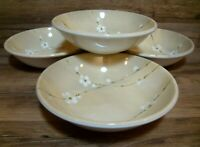 "SET OF 4 - ROYAL STAFFORD - RADIO BLOSSOM - 7 3/4"" CEREAL SOUP BOWLS - ENGLAND"