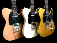 PICK 1 - 6 STRING SLAB BODY NEW TELE STYLE ELECTRIC GUITAR LIGHTWEIGHT 3 COLORS