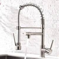 Aimadi Kitchen Sink Faucet Pull Down Sprayer Swivel Brushed Nickel Mixer Tap