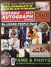 2017 HISTORIC AUTOGRAPHS FAME & PHOTO SIGNED AUTO CELEBRITY 8X10 SEALED