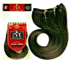 "EVE Premium Indian Remy 100% Human Hair 8"" BANG ~ FRINGE Extension ~ 12 Colors"