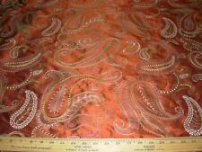 "~BTY~FABRICUT 100% SILK ""SWIFT"" PAISLEY~EMBROIDERED UPHOLSTERY FABRIC FOR LESS~"