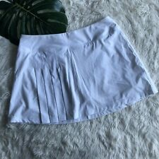 Athleta Womens Skirt Second Wind Skort Size Medium White Pleated