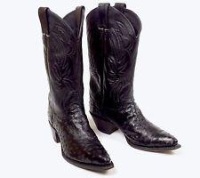 Justin Black Ostrich Cowboy Boots - Womens Size 7.5B Vtg Excellent Condition