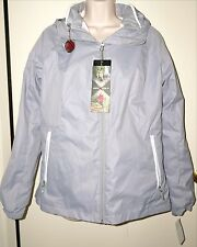 "ZEROXPOSUR Women's 3-In-1 Systems Jacket ""METAL"" Gray/White Size L NWT"