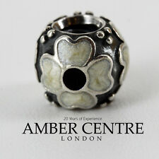 Genuine Pandora Unique Silver Charm - Enamel White Flower - 790433EW RRP£50!!!