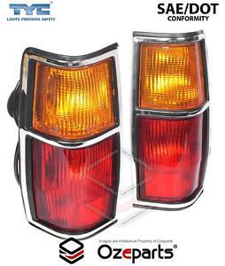 Pair LH+RH Tail Light Lamp Chrome (Vertical) For Nissan 720 UTE 1979~1985