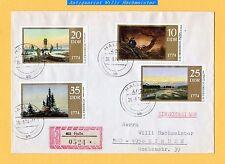 2 Sätze DDR-Mi.Nr. 1958-61°+62°(Bl.40) sauber gestempelt auf 3 R-Briefen