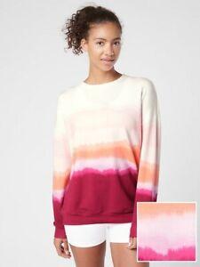 ATHLETA Balance Printed Pullover XL X-Large   Sea Spray Vintage Plum Sweatshirt