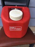 Vintage GOTT TIP N TAP Orange Red Cooler Thermos Water Jug  Model 1505 No Box