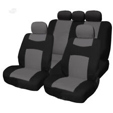 New Grey and Black 9PC Flat Cloth Front Rear Car Truck Seat Covers for Mazda