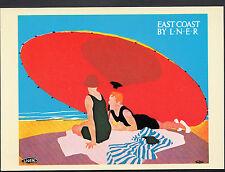 Advertising Postcard - Trains - East Coast By L.N.E.R - Beach Scene  Y139