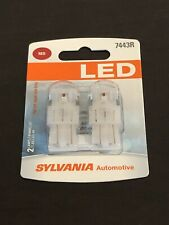 Sylvania Premium LED Light 7443R Red Two Bulbs Brake Stop Tail Replace Upgrade