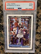 1992 TOPPS SHAQUILLE O'NEAL ROOKIE CARD CARD NUMBER #362 PSA 9 MINT