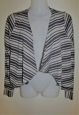 METALICUS Grey Striped Cardigan One Size Small Medium Large S M L 8 10 12