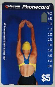 Commonwealth Games Canada 1994 Phonecards Swimming Shot Put Sport Athletics set