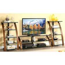 """Whalen Brown Cherry 3-Shelf Tabletop Console for TVs up to 70"""""""