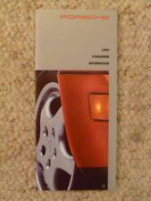 1992 Porsche Consumer Information Showroom Folder / Brochure / Prospekt RARE