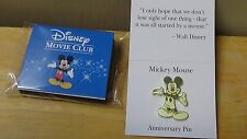Disney Movie Club Exclusive VIP Gold Mickey Mouse Anniversary Lapel Pin NEW