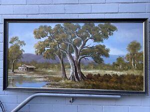 Large Original Signed Oil Painting Davic? PICK UP KIAMA NSW No Posting Too Big