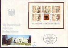 Ersttagsbrief-Briefmarken aus der BRD (1980-1989) mit Geschichts-Motiv