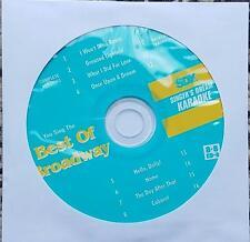BEST OF BROADWAY SDK KARAOKE CD+G DISC 9036 MULTIPLEX CABARET,WIZ,HELLO DOLLY