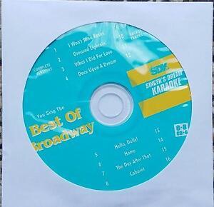 BEST OF BROADWAY SDK KARAOKE CD+G DISC 9036 MULTIPLEX CABARET,WIZ,HELLO DOLLY CD