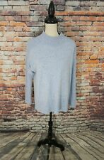 Orvis Long Sleeve Blue Speckle Pattern 100% CASHMERE Tunic Pullover Sweater XS