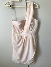Portmans Signature One Shoulder Dress SiZe 10 Pale Peach Nude Padded Bra