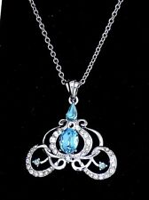 NEW Disney Authentic Necklace✿Cinderella Coach Made with Crystals from Swarovski