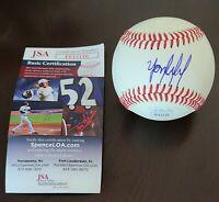 ROY Yordan Alvarez Signed Auto Rawlings Baseball JSA COA Houston Astros